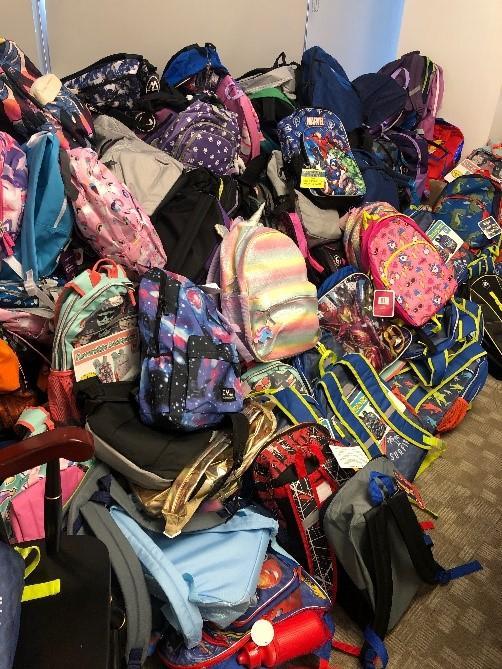 Backpacks used for Operation Backpack