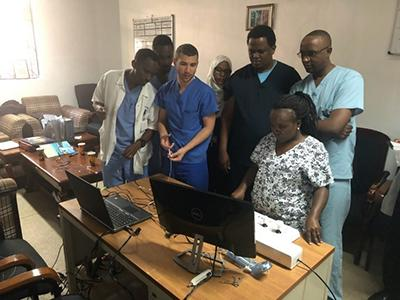Doctors and nurses learning in the radaid program